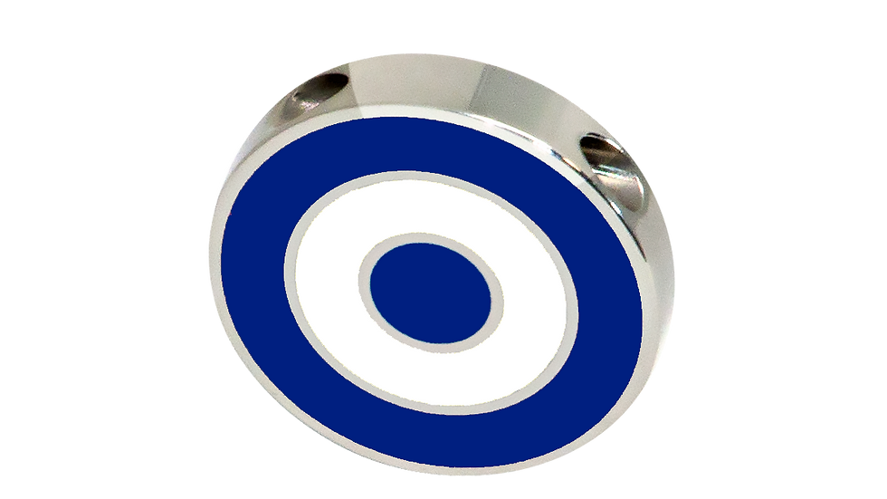 316L Stainless Steel Roundel Necklace with Greece colors