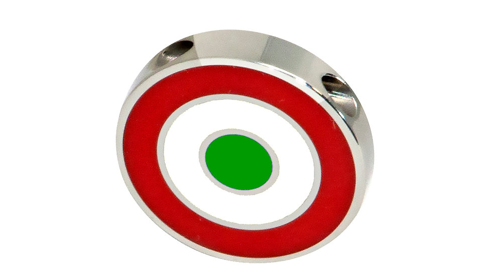 316L Stainless Steel Roundel Necklace with Italy colors