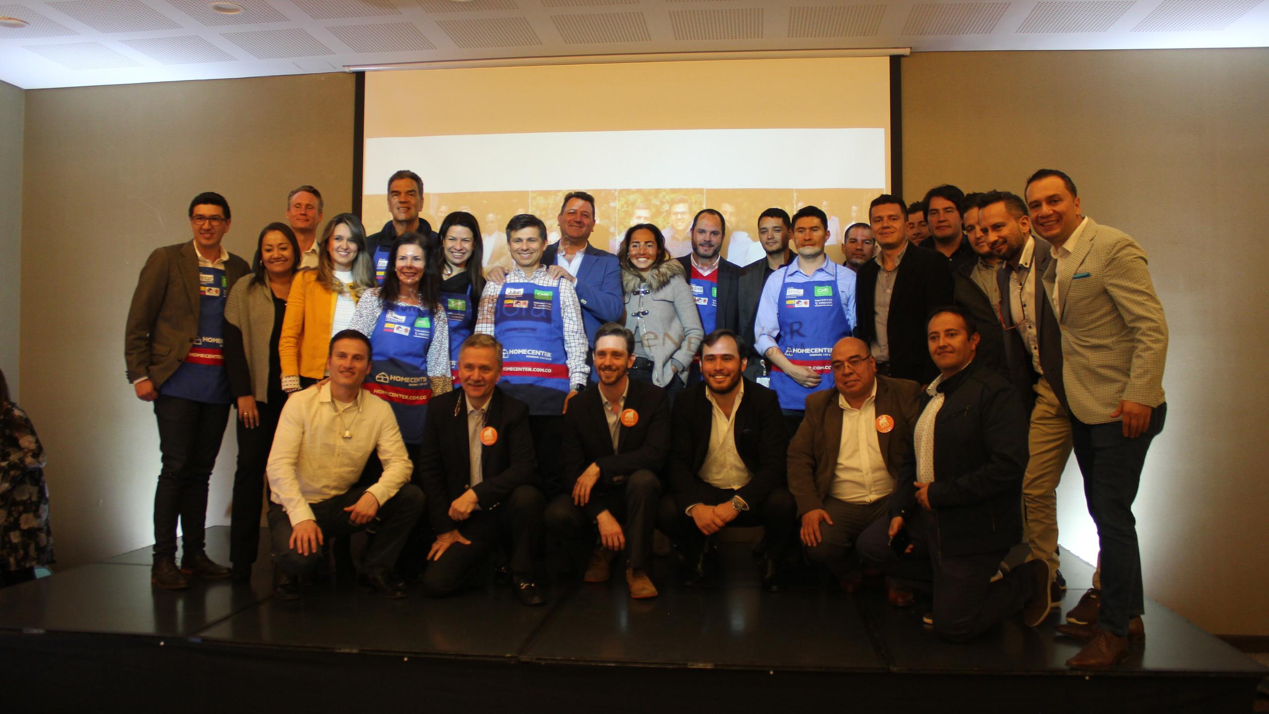 Colaboradores de Sodimac Colombia involucrados en los distintos retos de la Aceleradora