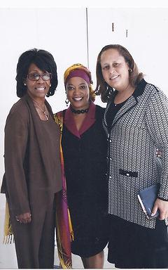 Theresa, Maxine Waters and Laura Richard