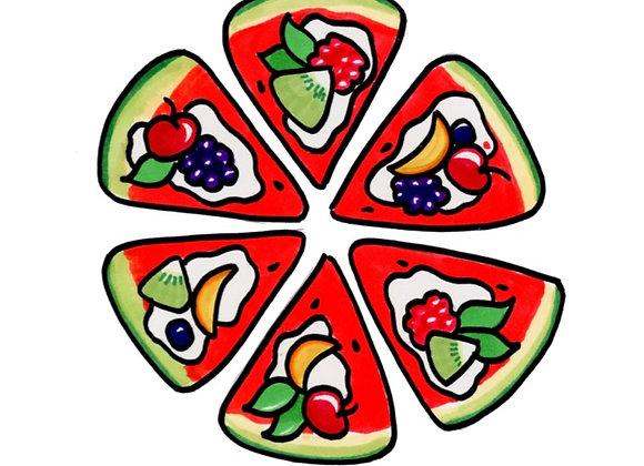 SKAL VI TEGNE EN VANDMELLON PIZZA