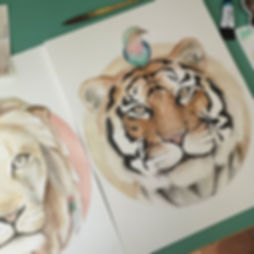Tiger and birdy almost done. Do you like