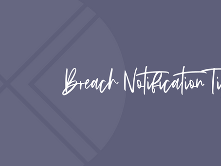 What to Know about Data Breach Notification Rules