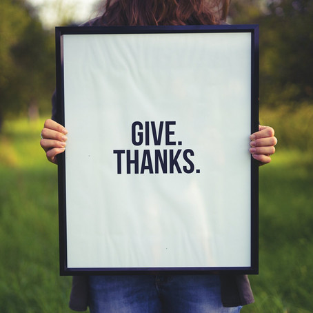 Thoughts on Gratitude ... No. 1: Make It a Year-Round Practice