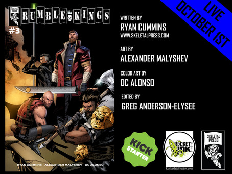 Rumble Kings #3 is LIVE on Kickstarter!!!