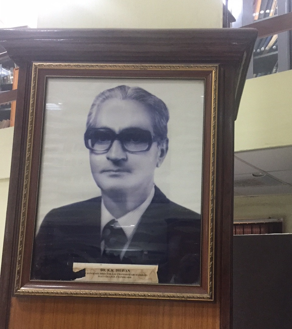 Dr. Krishan Dhavan. To me, he was simply Nana. That's a picture of him that still hangs in the library.