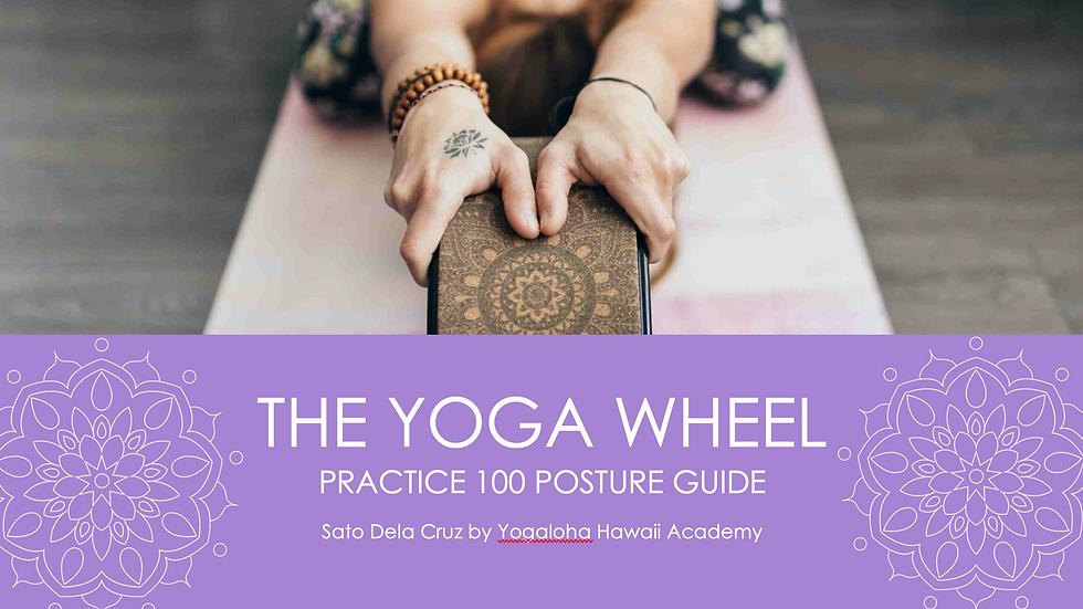 Yoga Wheel practice guidebook