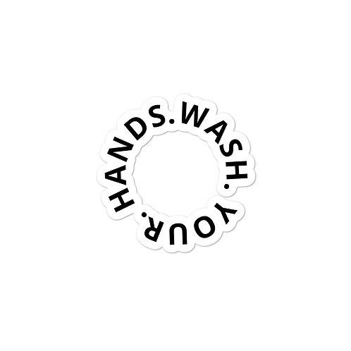 WASH.YOUR.HANDS. Sticker