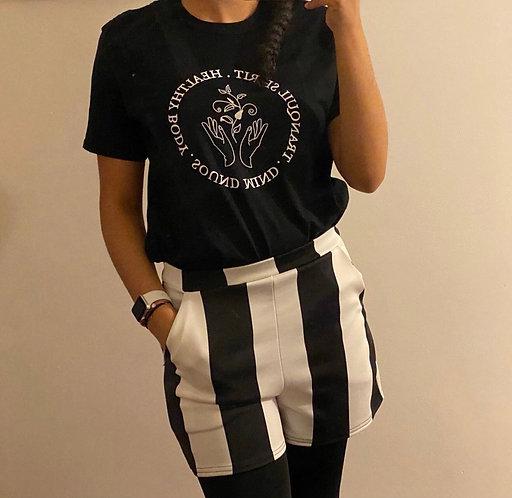Daily Wellness Print Oversized T-shirt