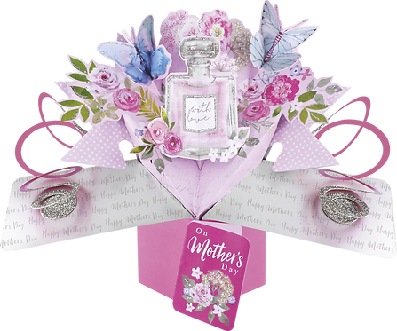 Perfume Bottle Mothers Day 3D Pop Up Card