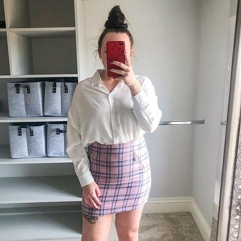 FREYA Check Mini Skirt - Pink