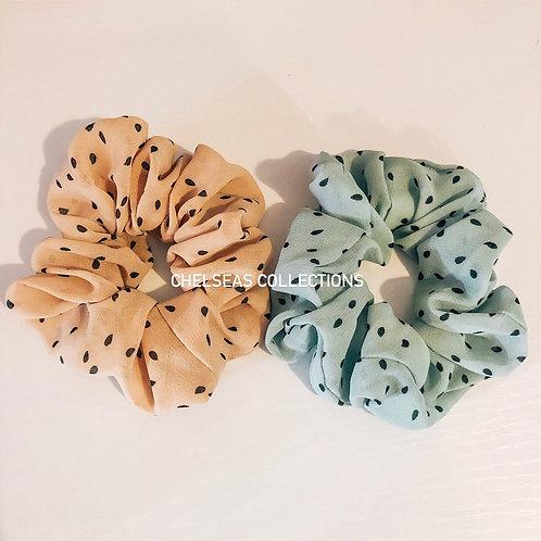 Polka Dot Scrunchies (pack of 2)