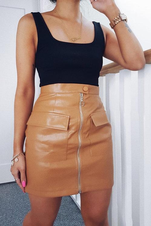 COURTNEY Utility Skirt - Tan