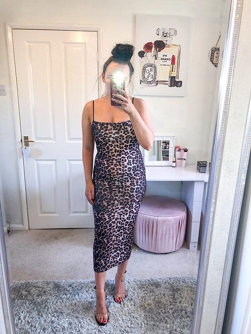 ARABELLA Leopard Print Midi Dress