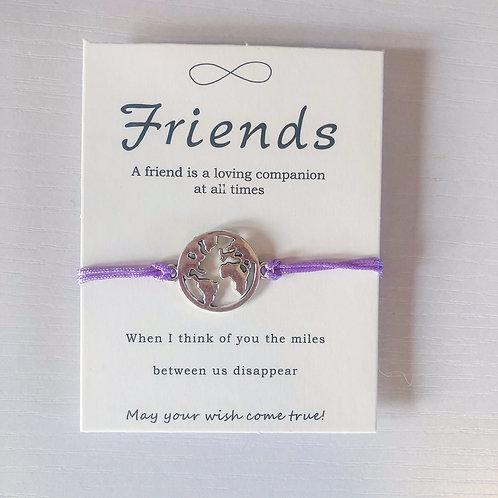 Friendship Wish Lucky Bracelet - Purple