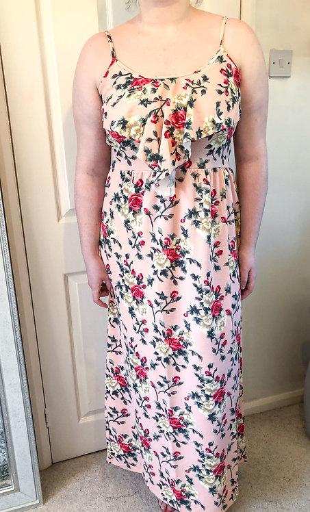 LISA Pink Floral Maxi Dress