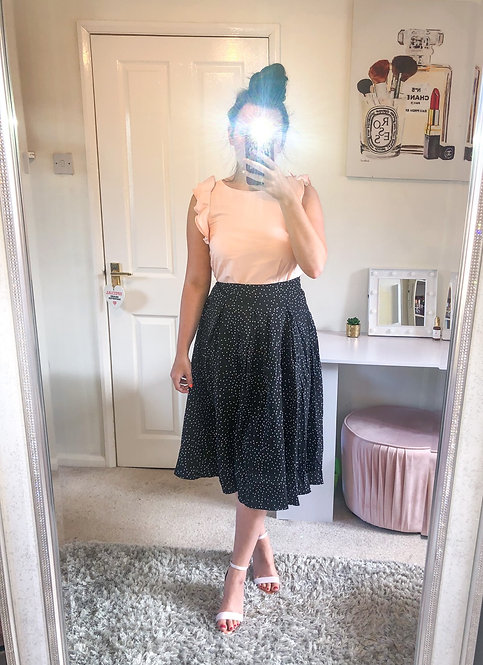 EMILY Polka Dot Midi Skirt
