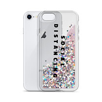 Social Distancing Liquid Glitter Phone Case