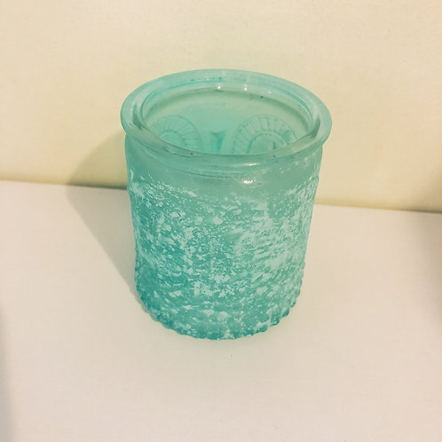 Frosted Tea Light Holder - Blue
