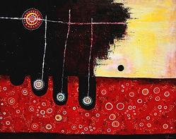 charlotte-wensley-abstract-acrylic-on-canvas-the-fisherman-2011