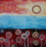Charlotte Wensley Australian Abstract Painter Abstract Landscape Painting Noosa Sunshine Coast Queensland Australia Artist Painter Charlotte Wensley Australian Abstract Painter Abstract Landscape Painting