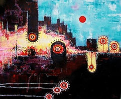 charlotte-wensley-abstract-acrylic-on-canvas-robbers-2011