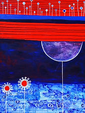 charlotte-wensley-abstract-acrylic-on-canvas-blackbird-2010