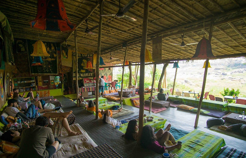 Hippie Places in Hampi | Hippie Cafe Hampi | Offbeat places to visit in Karnataka