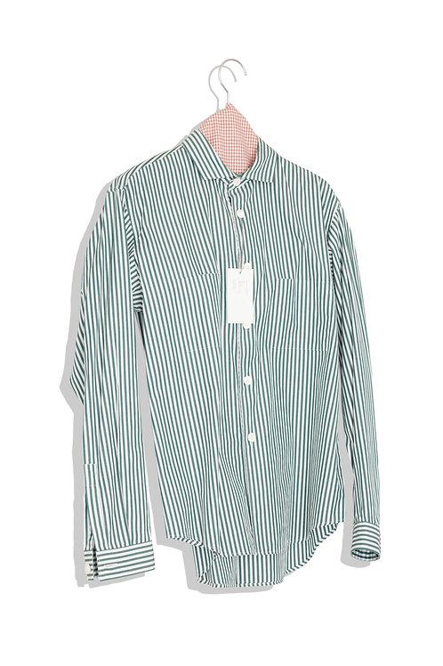 well; Horizontal collar shirts (block stripe)