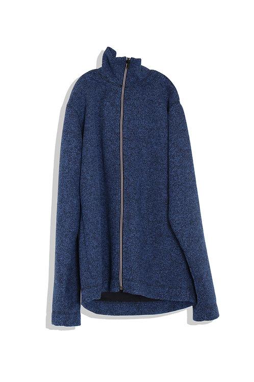 well; Zip cardigan (blue)