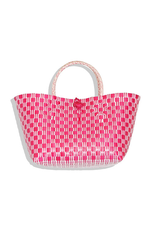 large plastic bag (deep pink)