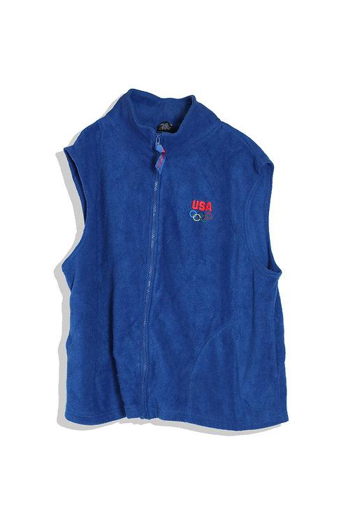 USA olympic zipped vest