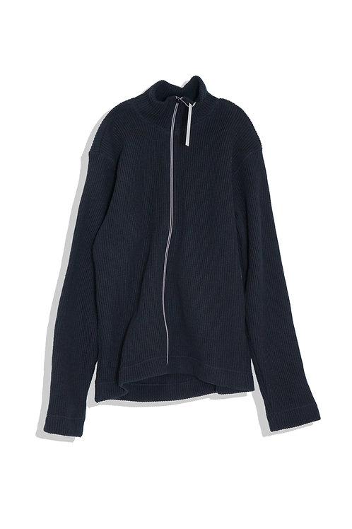 well; Zip cardigan (navy)