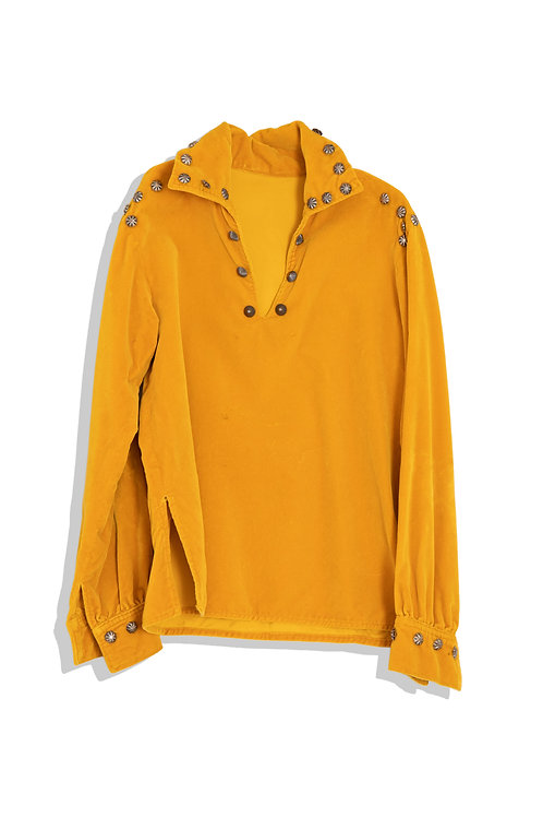 mustard color tunic with studs
