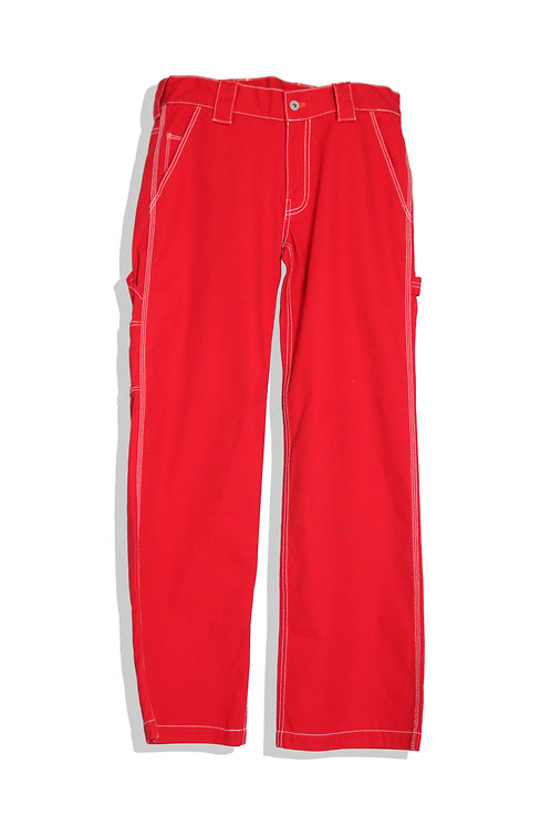 Red work trousers