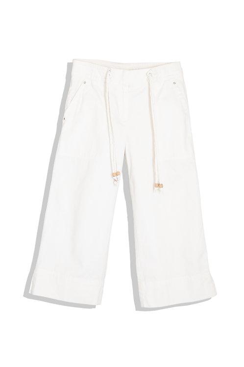 white cotton marine pants