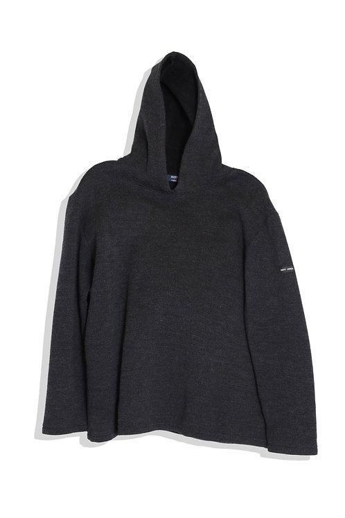 saint james hoodie fleece inside