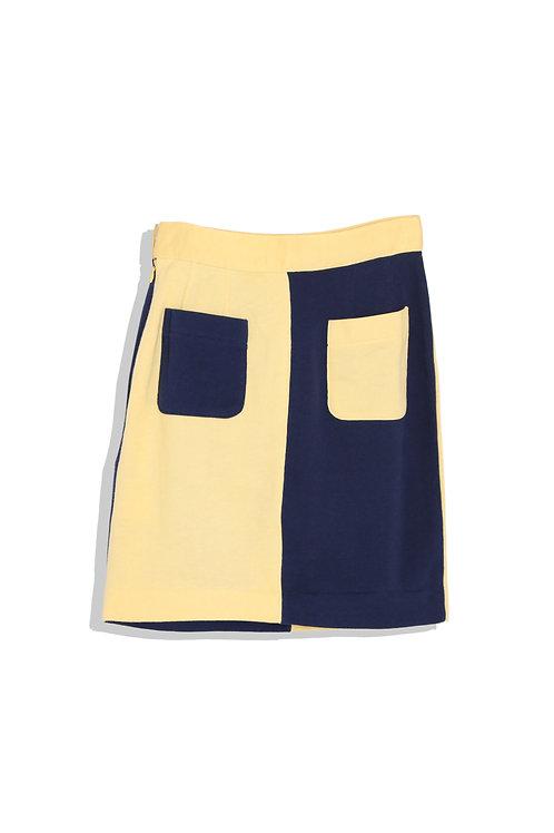 bi-colored mini skirt