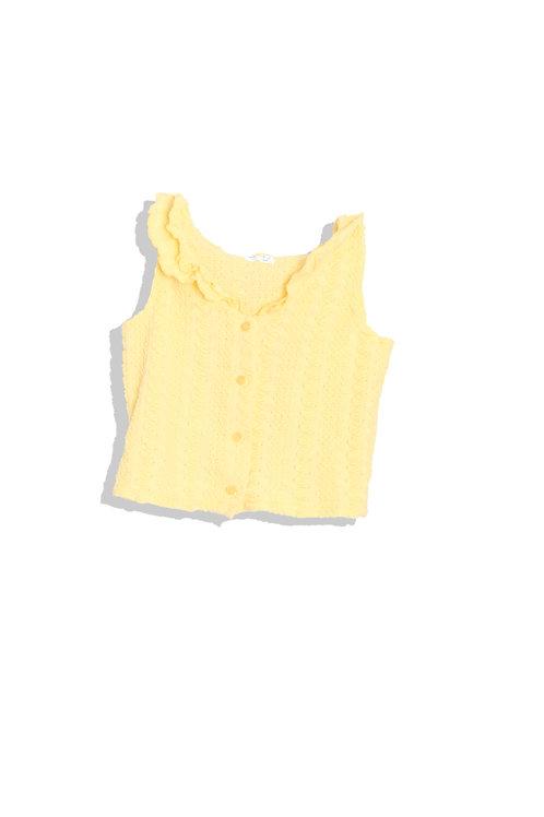 Yellow Knit Tank