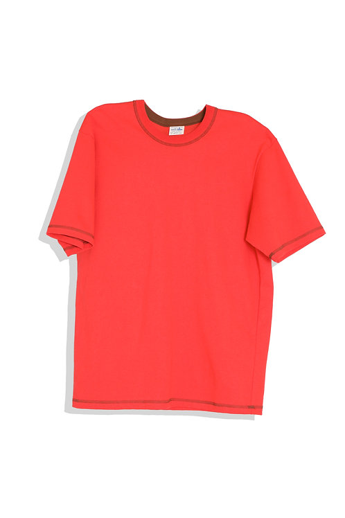 well; Ringer tee-shirt (red)