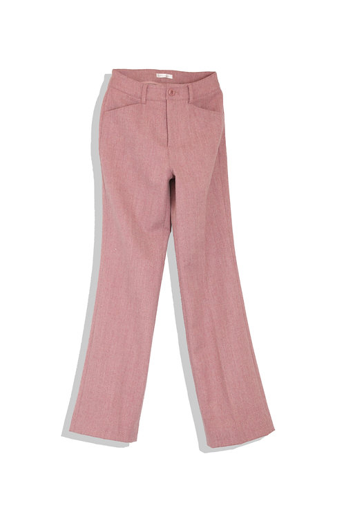 ash pink trousers