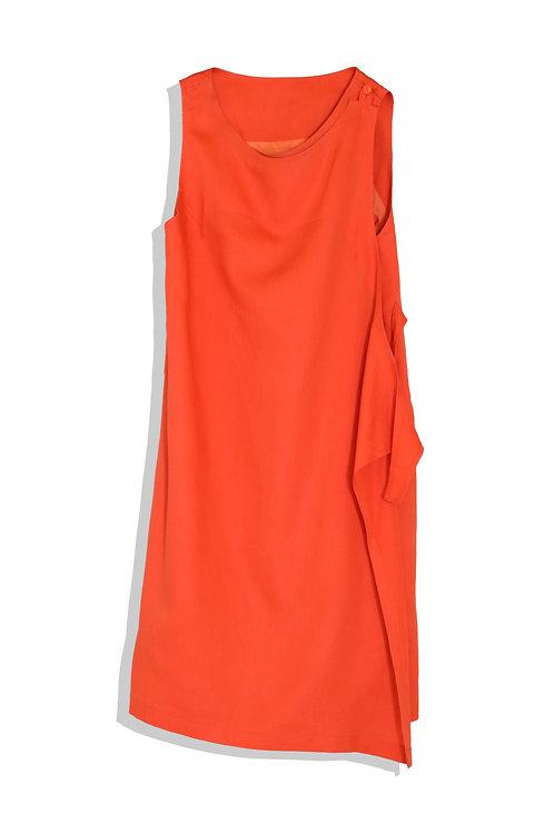 hot orange apron dress