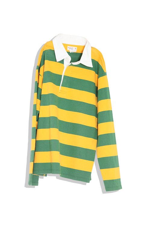 rugger shirt yellow green