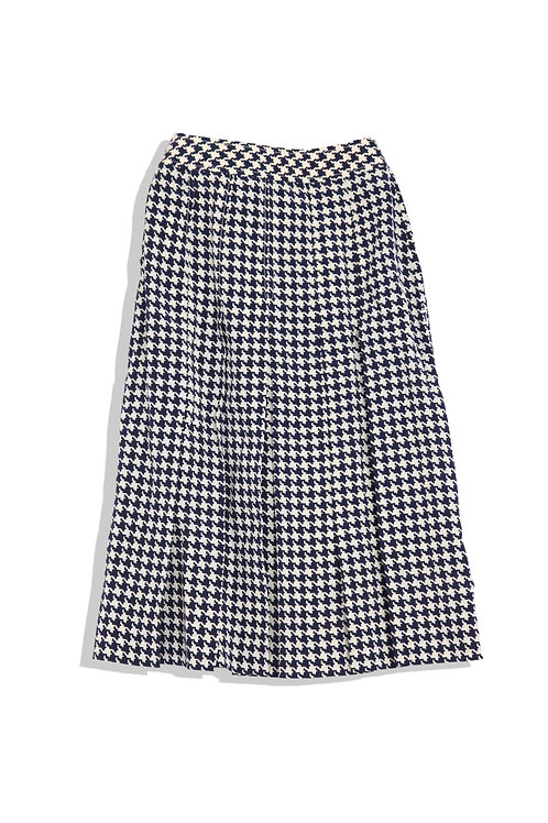 Houndstooth Pleats Skirt