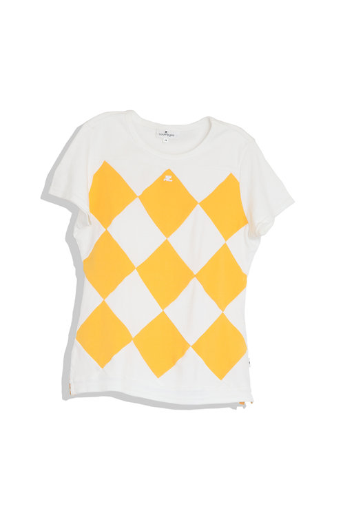Courrèges Diamond Check Tee