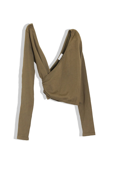 CELINE's long sleeves knit olive