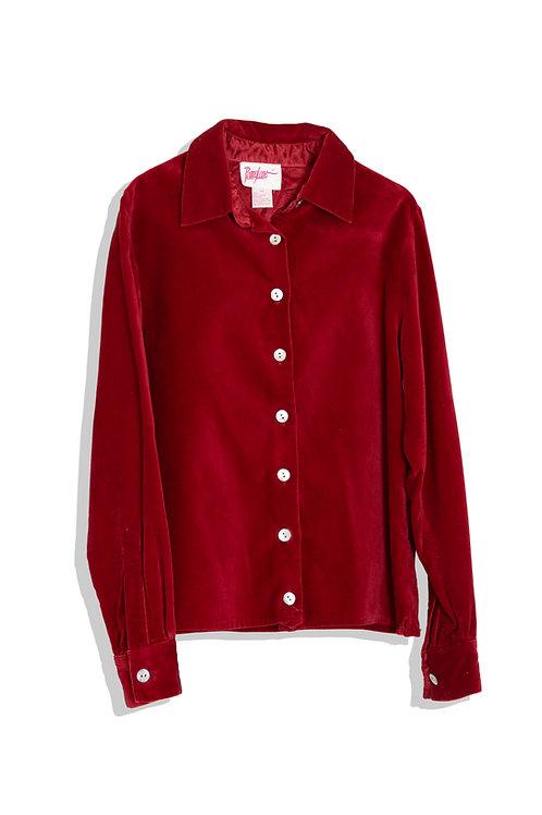 Raspberry velvet shirts