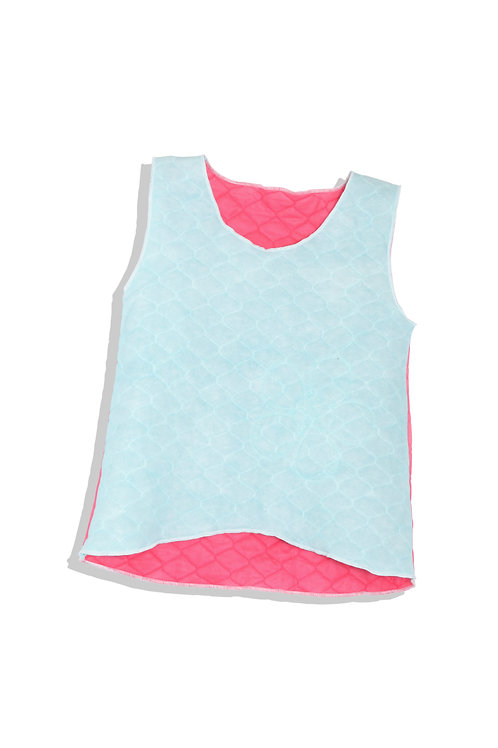 quilted tank with flower