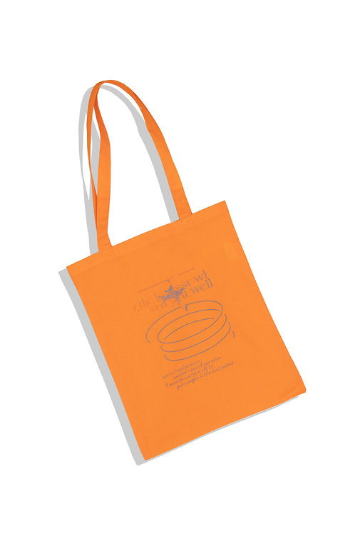 well's tote bag ORANGE