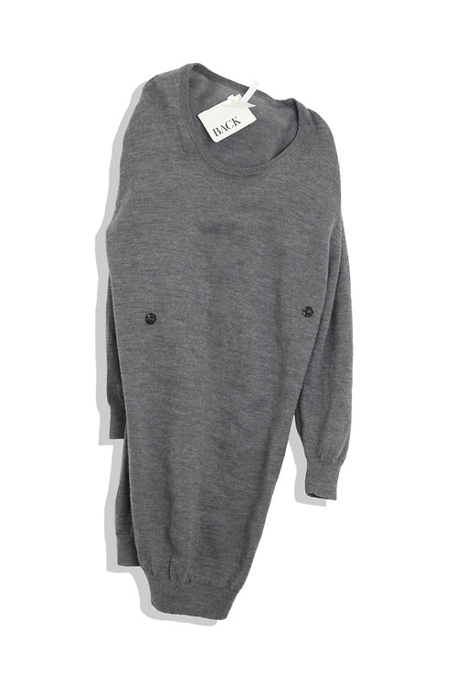 BACK grey knit dress